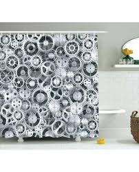 metal shower curtain metal shower curtain clock pattern print for bathroom round metal shower curtain rings