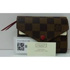 louis vuitton victorine damier ébène wallets leather cloth brown ref 55199 joli closet