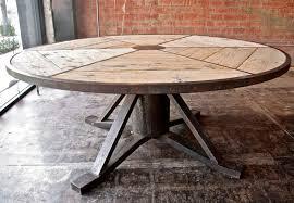 Industrial Italian Vintage Round Table At 1stdibs