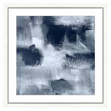 navy blue abstract ii framed archival paper wall art 26 in x 26 in full size