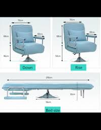 multifunction rotating sofa bed color grey