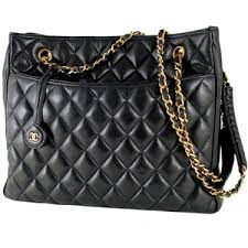 Chanel Black Quilted Lambskin Large Shopper Tote Bag Purse - Polyvore & Chanel Black Quilted Lambskin Large Shopper Tote Bag Purse Adamdwight.com