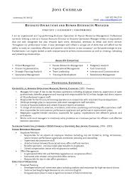 Business Operation Manager Resume Business Business Operations