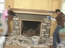 install a fireplace mantel and add stone veneer facing how tos diy for fireplace stone veneer
