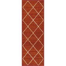 modern moroccan trellis runner rug