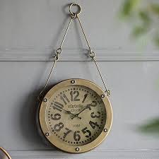 hanging wall clock antique farmhouse