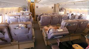 a view of business cl in an emirates boeing 777 300er submitted to seatguru