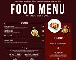 Menu Designs Food Menu Design Under Fontanacountryinn Com