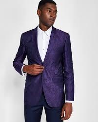 Mens Designer Suits Uk Ted Baker Pashion Floral Dinner Jacket Purple In 2020