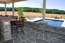 open pool house. Interior Of Open Air Pool House With Flagstone Floor Traditional-patio O