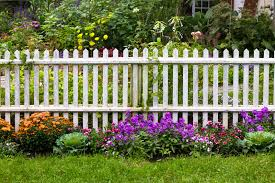garden fences images. Delighful Garden An Aged White Picket Fence That Separates The Garden Walkway From  Backyard Inside Garden Fences Images
