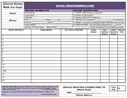 fundraising tracker template donation tracking form