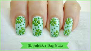 St. Patrick's Day Nail Art! - YouTube