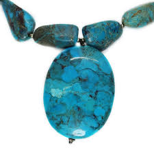 studio b large freeform turquoise nugget necklace oval turquoise pendant bid