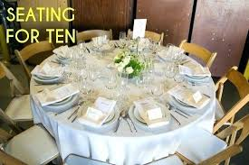 a table showing place settings for persons 60 round seats how many with 10 wedding seating round tables