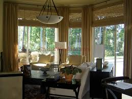 living room window treatments for large windows. bamboo shades and drapes for large windows in living room window treatments d