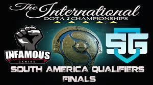 live dota 2 infamous v s sg e sports sa qualifiers finals