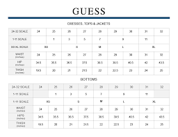 Guess Dress Size Chart Online Clothing Stores Leather Jacket Size Chart