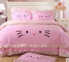 100 cotton cat bedding set kids pink Lace quilt covers bedding ... & 100 cotton cat bedding set kids pink Lace quilt covers bedding sets Cotton  Oil printing bed Adamdwight.com