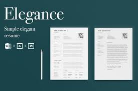 Elegance Simple Elegant Resume Template Fonts And Cv Template