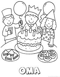 Oma Verjaardagstaart Naam Kleurplaat
