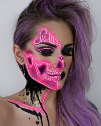 this dream like skeleton makeup will make you want to host a party months early