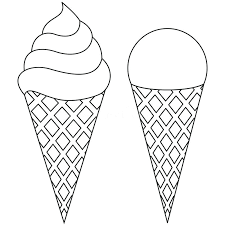 ice cream cone clip art black and white. Black And Book Clip Art Download Line Cone Clipart Ice Creamblack White Cream