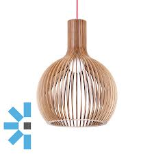 geometric orb plywood pendant