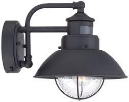fallbrook 9 h black dusk to dawn motion sensor outdoor light com