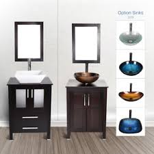 Single vessel sink bathroom vanities White Image Is Loading 24039039bathroomvanityfloorcabinetsingle Ebay 24 Bathroom Vanity Floor Cabinet Single Wood Top Vessel Sink