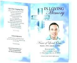 Free Funeral Program Template Brochure Word Best Creative