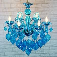 blue glass chandelier colorful pendant glass chandelier lamps for coffee wedding bar blue purple red
