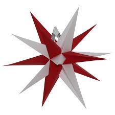 Original Annaberger Faltstern Mit Beleuchtung Weihnachtsstern Adventsstern Farbe Rote Spitze We