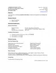 Resume Internships Examples Student Example Undergraduate