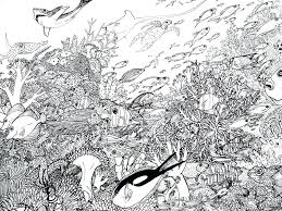 Coral Reef Coloring Page