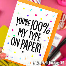 you re % my type on paper