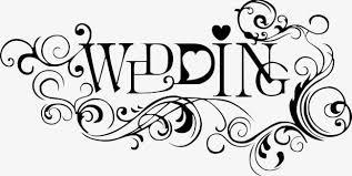 Wedding Title Black Wedding Title Png Clipart Black Clipart English