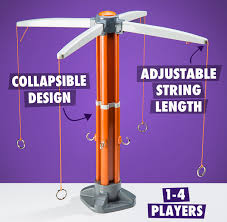 1 4 players collapsible design adjustable string length
