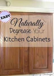 How To Remove Grease From Kitchen Cabinets Fascinating How Degrease Your Kitchen Cabinets All Naturally