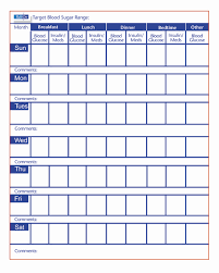 Abundant Diabetes Monitoring Chart Excel Printable Insulin