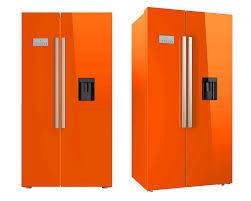 haier orange fridge freezer. american fridge freezer , none plumbed with water and ice. brand new orange haier f