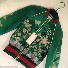 y the emerald green gucci jacket is worth 4 180 and adds to roxy s over