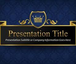 Blue And Gold Powerpoint Template Free King Powerpoint Template
