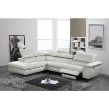 contemporary sectional couch. Modren Sectional Divani Casa Maine Modern Light Grey EcoLeather Sectional Sofa W Recliner With Contemporary Couch T