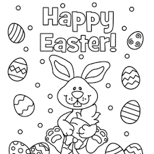 Small Picture Happy Easter Eggs Coloring Pages Holidays Easter Coloring Pages