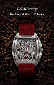 Ciga Design My Mechanical Watch Xiaomi Ciga Design Z Series Hollow Carved Mechanical Watch Sapphire Mirror 3atm Black