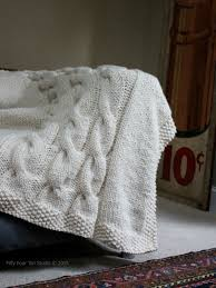 Cable Knit Blanket Pattern Interesting Design Ideas