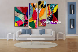 living room art 4 piece canvas wall art oil paintings wall art abstract on 4 piece canvas wall art with 4 piece colorful home decor abstract canvas wall art