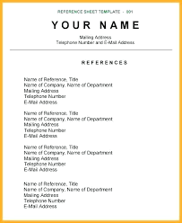 Unique Resume Magnificent Resume Reference Sheet Template Also Resume Reference Sheet Unique