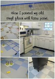 Inspirating Tile Over Vinyl Floor of How I Painted My Vinyl Floor My  Repurposed Life Photos Vinyl Flooring